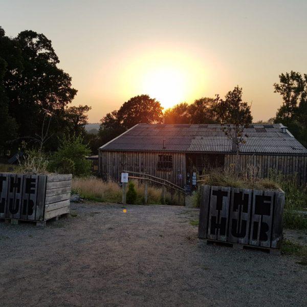 The Hub at Sunset